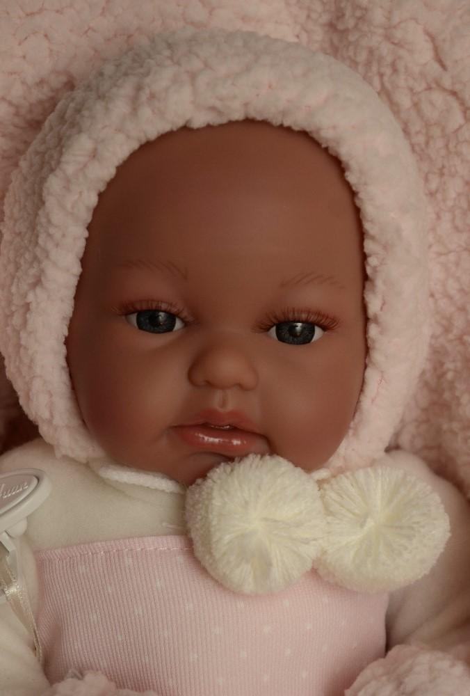 Realistické miminko Antonio Juan - holčička Toneta v zimním (Doprava zdarma)