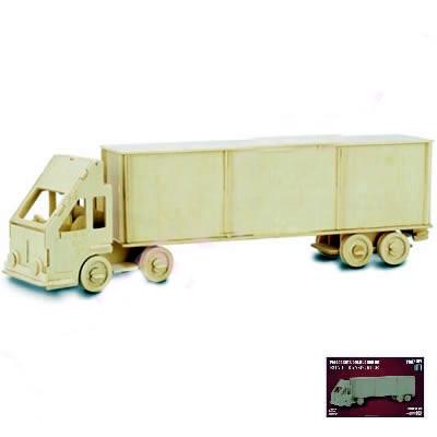 Dřevěné 3D puzzle dřevěná skládačka auta - Kamion TIR P097 (Dřevěné 3D puzzle dřevěná skládačka auta Kamion TIR P097)