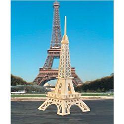 Dřevěné skládačky 3D puzzle - Eiffelova věž menší (Dřevěné 3D puzzle dřevěná skládačka slavné budovy )