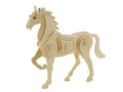 Dřevěné 3D puzzle dřevěná skládačka zvířata - Kůň