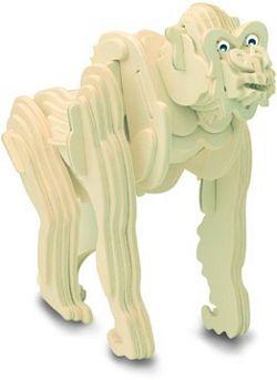 Dřevěné 3D puzzle dřevěná skládačka zvířata - Gorila M021 Podrobné informace