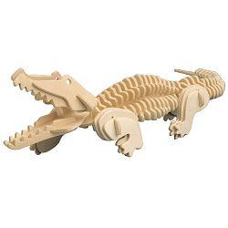 Dřevěné 3D puzzle dřevěná skládačka zvířata - Krokodýl M013 Podrobné informace