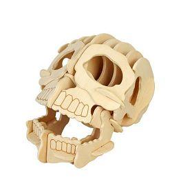 Dřevěné skládačky 3D puzzle - Lebka R013