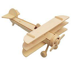 Dřevěné skládačky 3D puzzle letadla - Trojplošník P074 (Dřevěné 3D puzzle dřevěná skládačka letadla Trojplošník P074)
