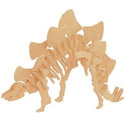 Dřevěné 3D puzzle skládačka dinosauři - Stegosaurus J016