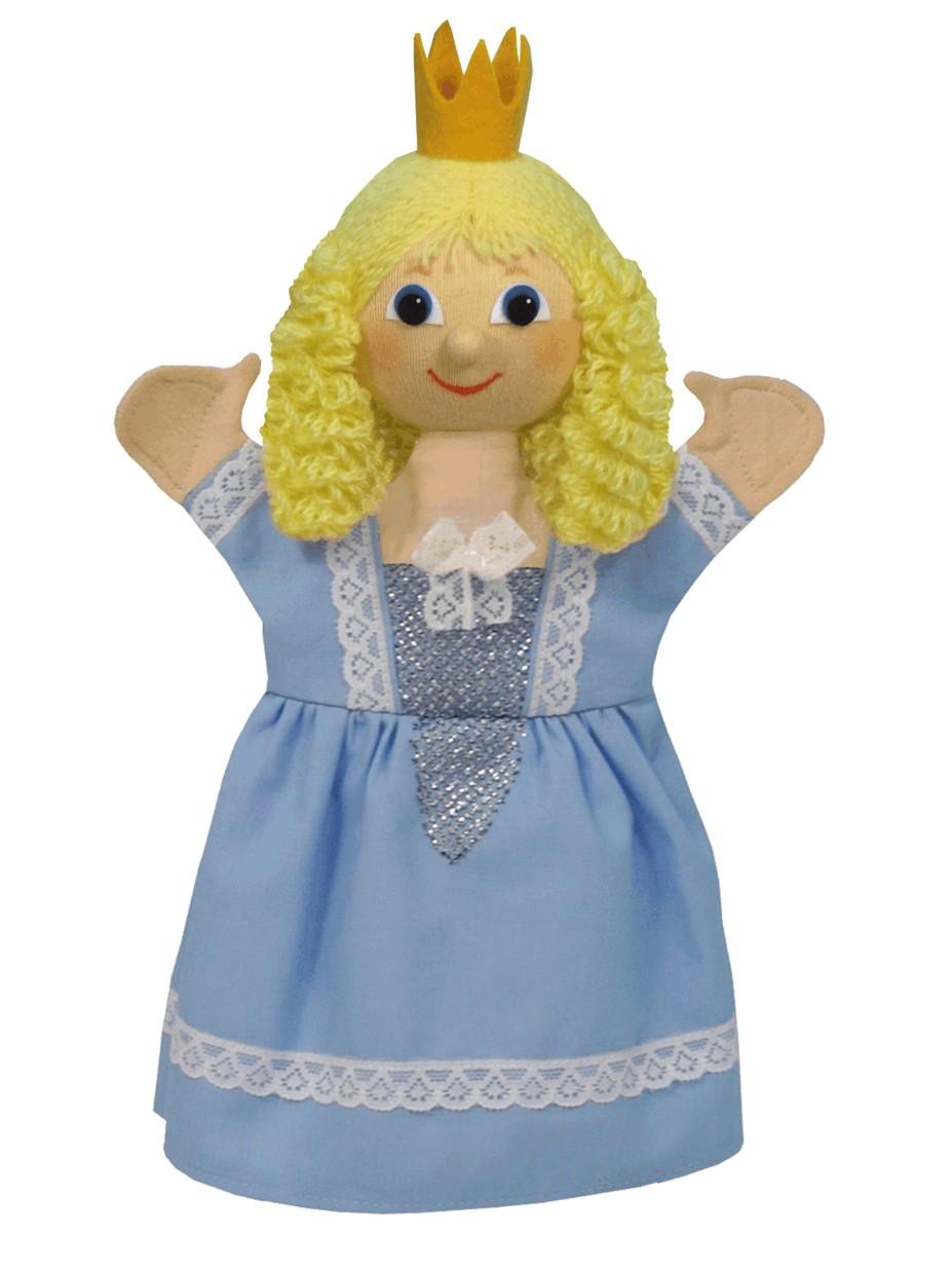 Maňásek na ruku - Princezna Regina - sv. modrá