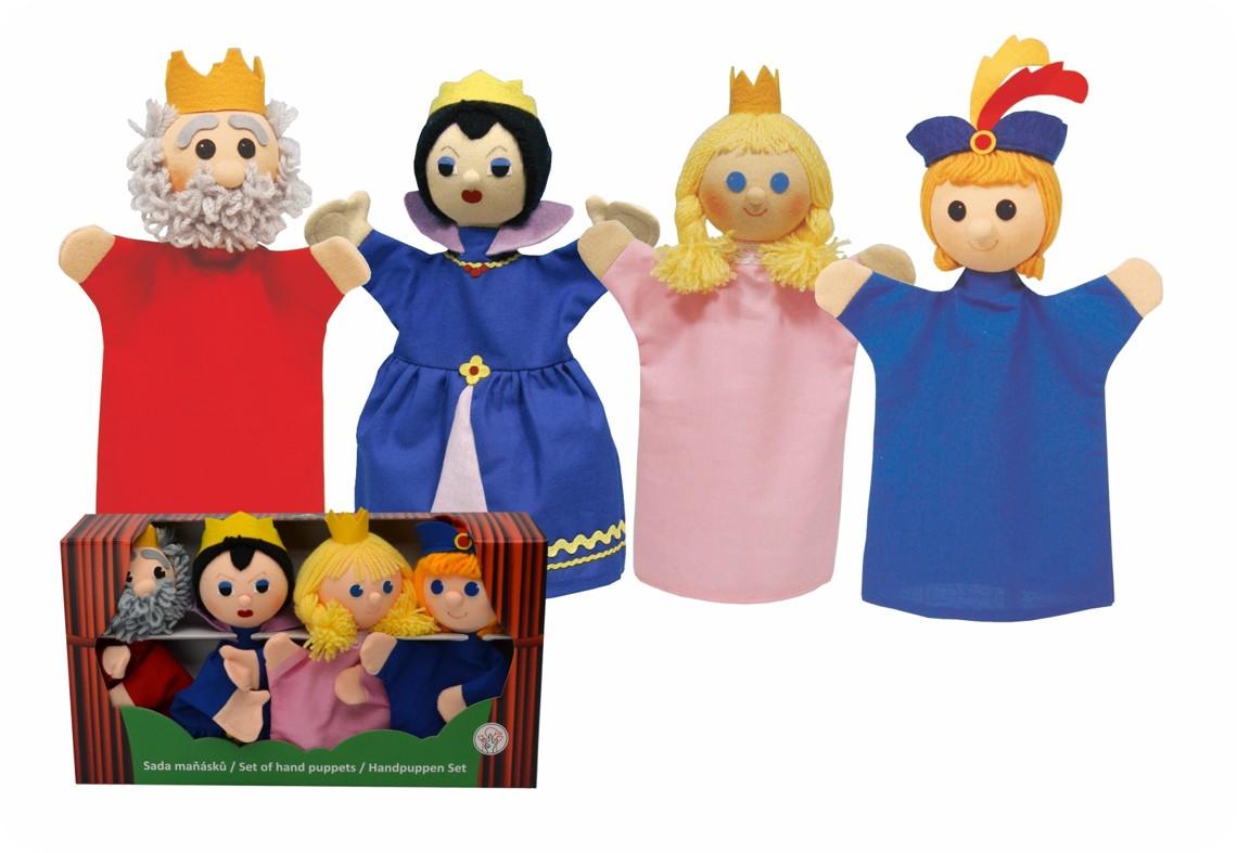 Krabička maňásků na ruku - Královská rodina 2
