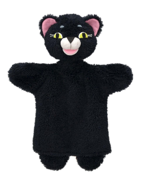 Maňásek na ruku - Kočička černá (26 cm)