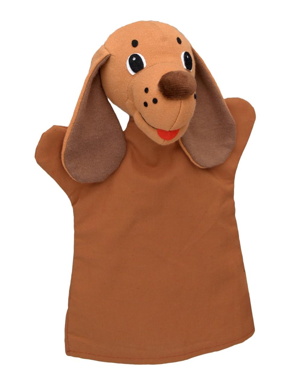 Maňásek na ruku - Pejsek hnědý (26 cm)