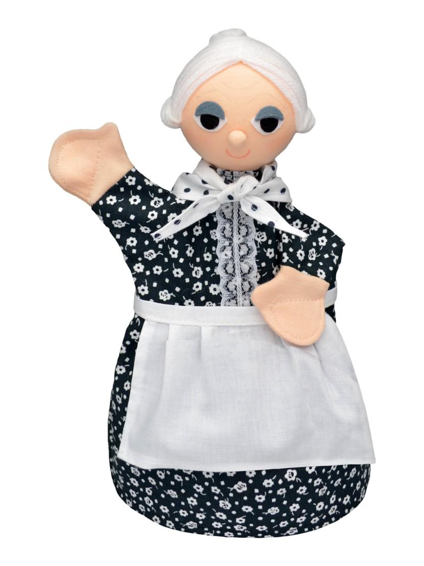 Maňásek na ruku - Babička (30 cm)