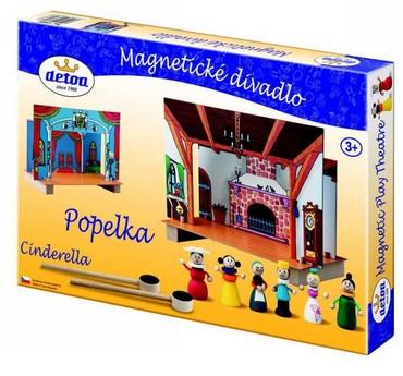 DETOA - divadlo magnetické Popelka (Dřevěné hračky )