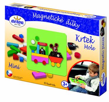 DETOA - Magnetické dílky Krtek MINI (Dřevěné hračky )