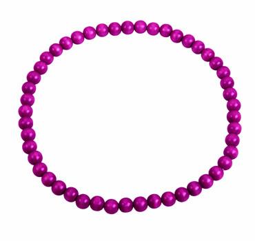 DETOA - náhrdelník sytě růžový (Dřevěná bižuterie)