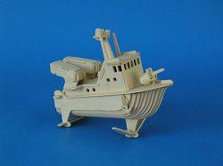 Dřevěná 3D skládačka -bojový člun