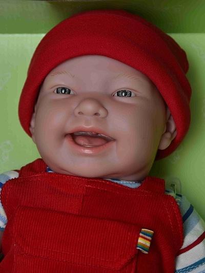 Berenguer, JC Toys, miminko, mrkací, noni, chlapeček, nico, 18904, španělské, zdarma, realistické, panenka, 46, cm, vinyl, ze španělska