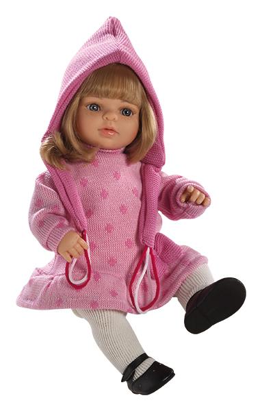 Realistická panenka - holčička Laura v růžovém od firmy Berjuan ze Španělska