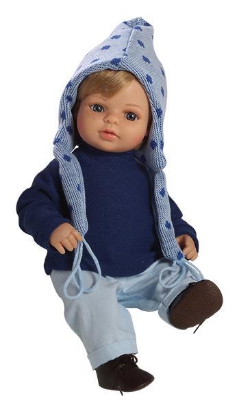 Realistická panenka chlapeček - Laurin v modrém od firmy Berjuan