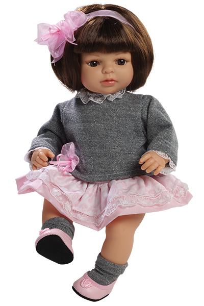 Fotografie Realistická panenka Laura s mašlí od firmy Berjuan ze Španělska