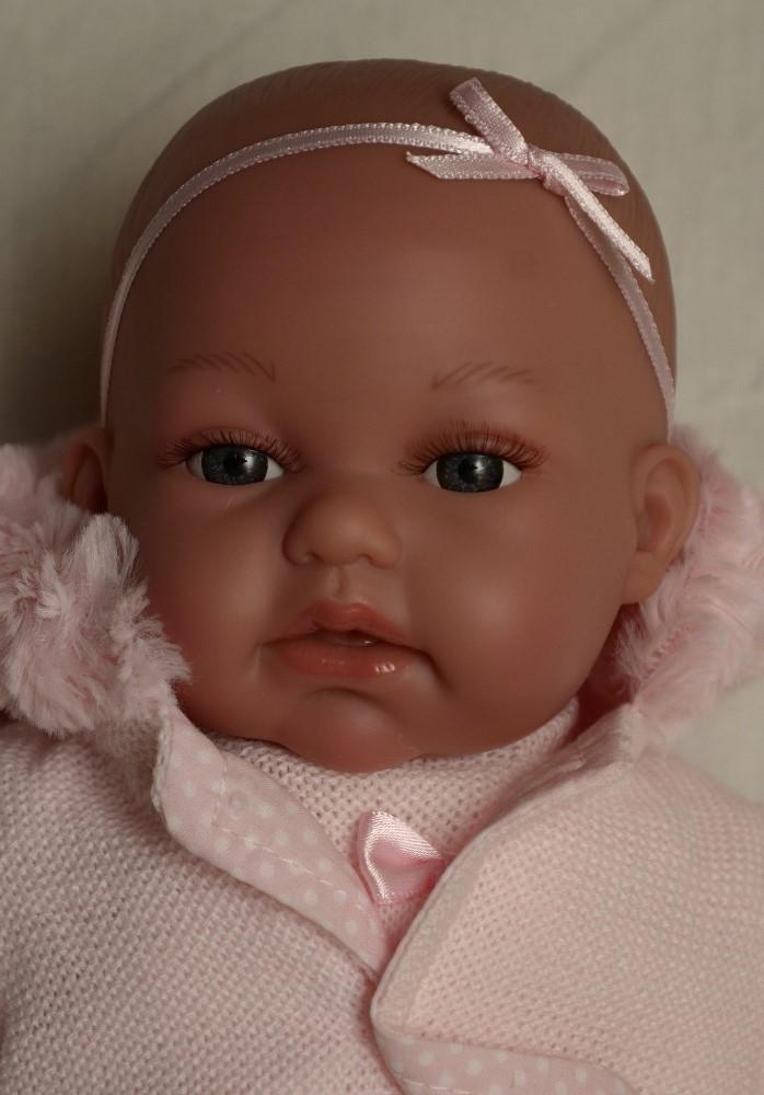 Realistické miminko - holčička Toneta v šatičkách od Antonio Juan (Doprava zdarma)