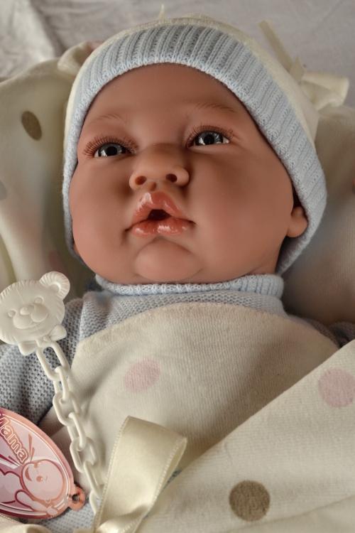 Realistické miminko - chlapeček v peřince od Antonio Juan (Doprava zdarma)