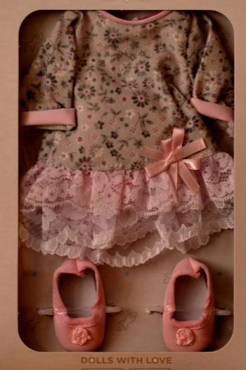 Sada na panenku Malvínu 04502 (Obleček + boty)