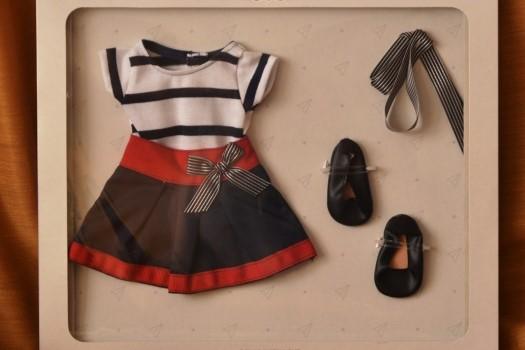 Sada na panenku Emmu 06005 (Obleček + boty)